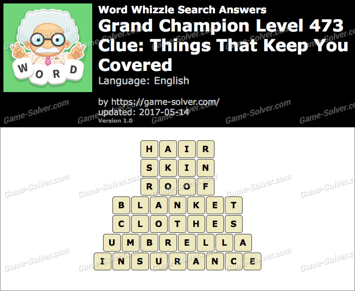 Word Whizzle Search Grand Champion Level 473 Answers Game Solver