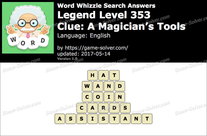 Word Whizzle Search Legend Level 353 Answers