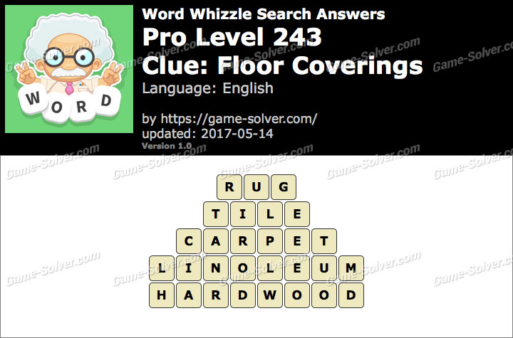 Word Whizzle Search Pro Level 243 Answers