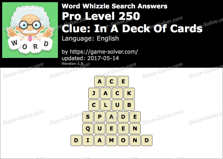 Word Whizzle Search Pro Level 250 Answers