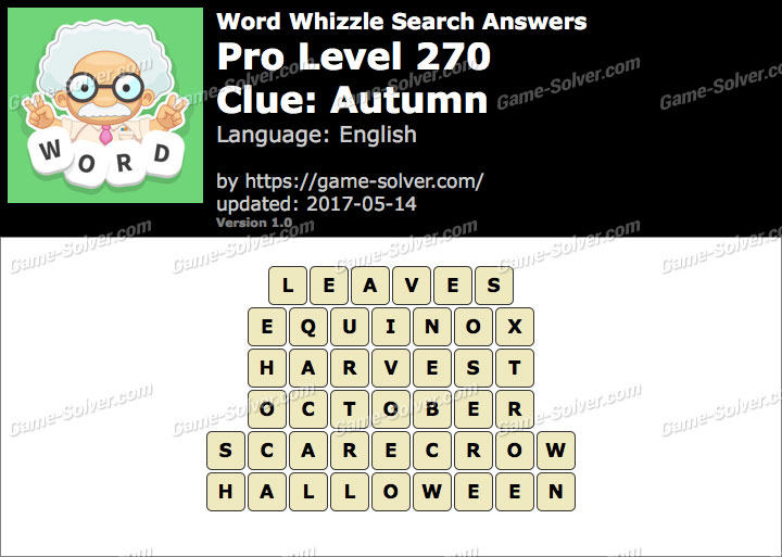 Word Whizzle Search Pro Level 270 Answers - Game Solver