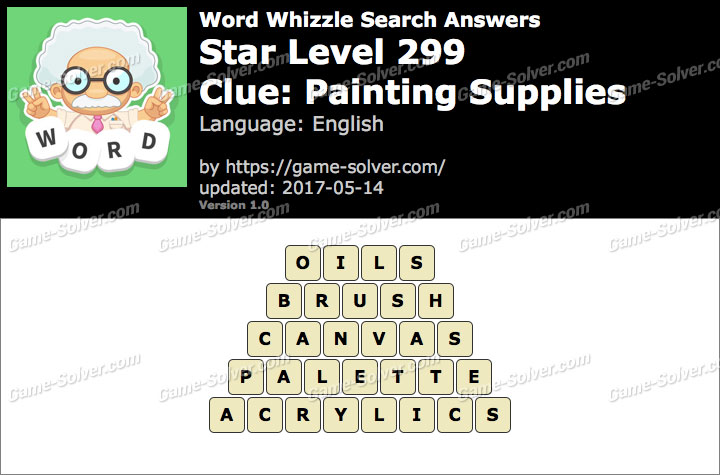 Word Whizzle Search Star Level 299 Answers Game Solver