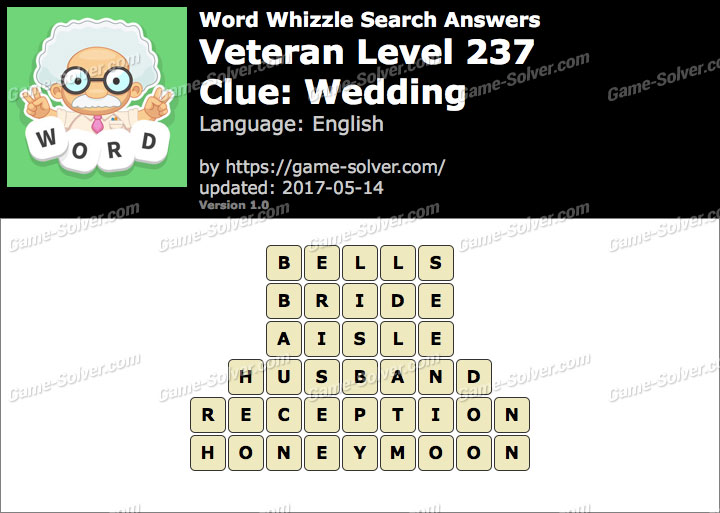 Word Whizzle Search Veteran Level 237 Answers