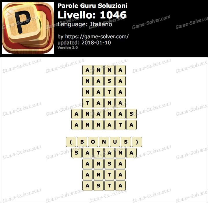 Parole Guru Livello 1046 Soluzioni