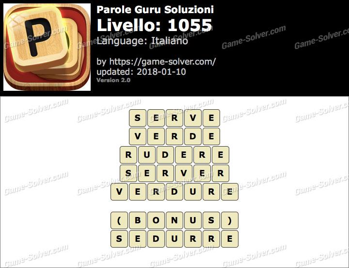 Parole Guru Livello 1055 Soluzioni
