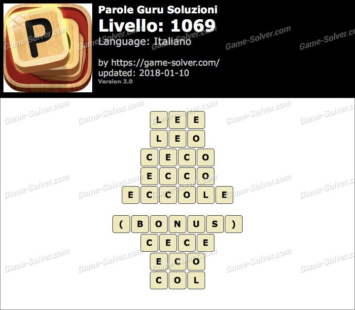 Parole Guru Livello 1069 Soluzioni