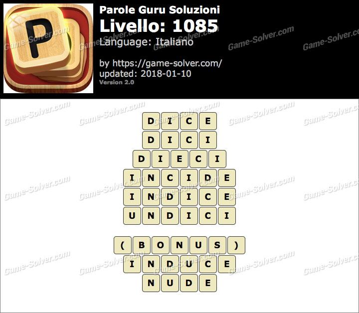 Parole Guru Livello 1085 Soluzioni