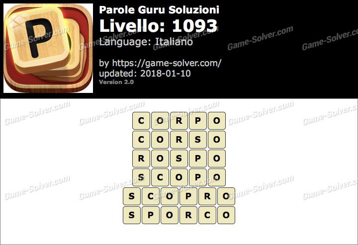 Parole Guru Livello 1093 Soluzioni