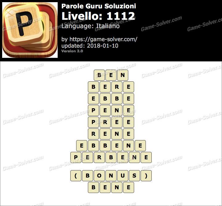 Parole Guru Livello 1112 Soluzioni