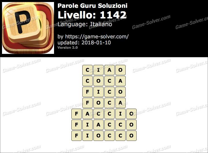 Parole Guru Livello 1142 Soluzioni