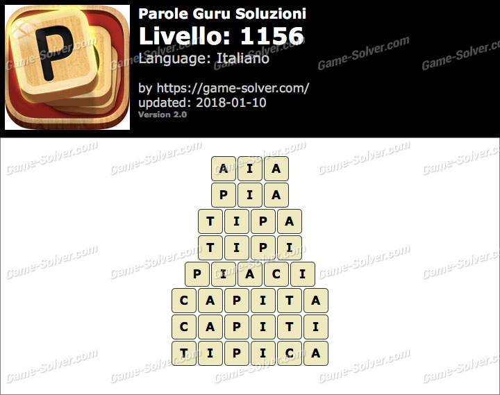 Parole Guru Livello 1156 Soluzioni