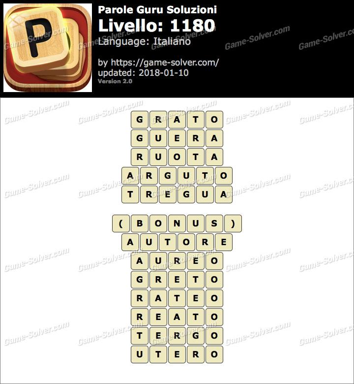 Parole Guru Livello 1180 Soluzioni