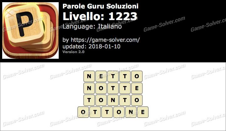 Parole Guru Livello 1223 Soluzioni