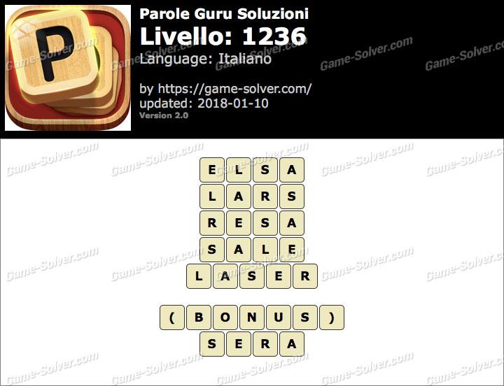 Parole Guru Livello 1236 Soluzioni