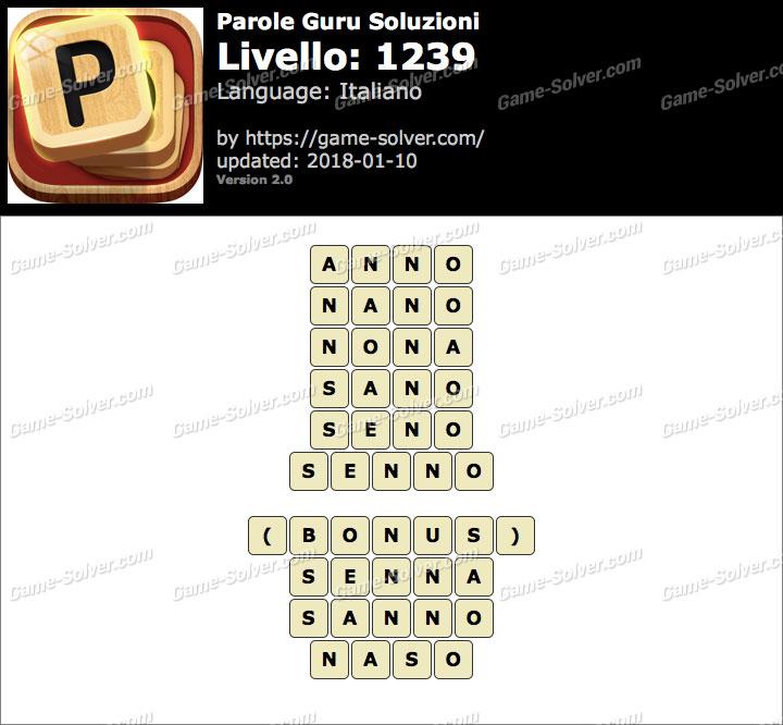 Parole Guru Livello 1239 Soluzioni