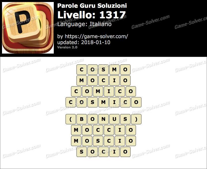 Parole Guru Livello 1317 Soluzioni