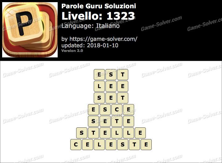 Parole Guru Livello 1323 Soluzioni