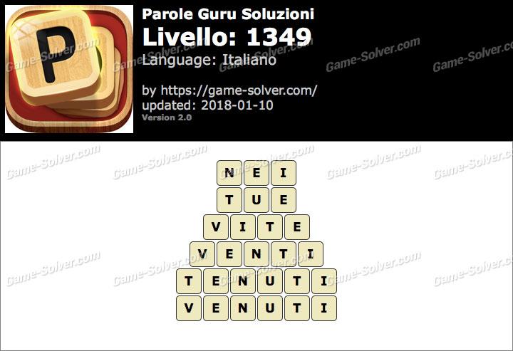 Parole Guru Livello 1349 Soluzioni