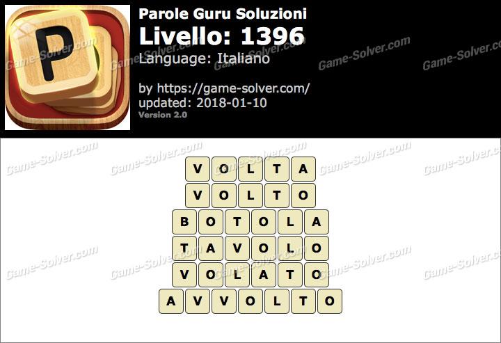 Parole Guru Livello 1396 Soluzioni