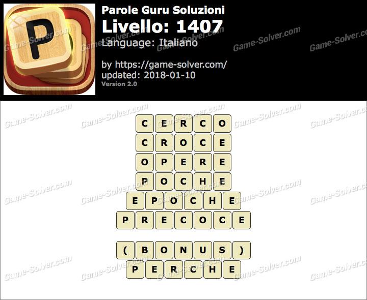 Parole Guru Livello 1407 Soluzioni