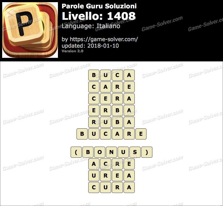 Parole Guru Livello 1408 Soluzioni