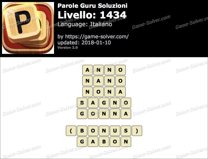Parole Guru Livello 1434 Soluzioni