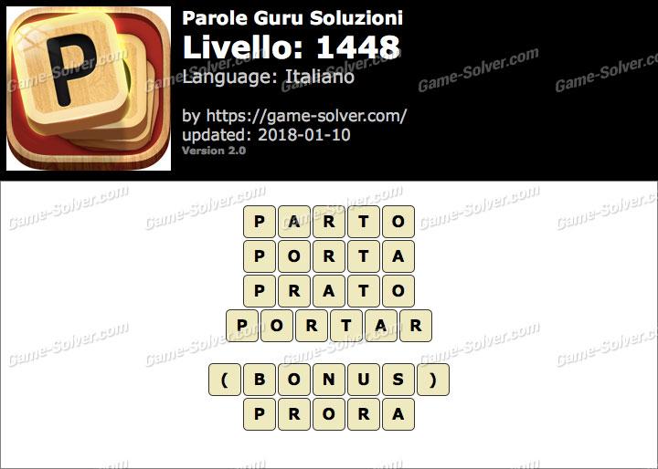 Parole Guru Livello 1448 Soluzioni