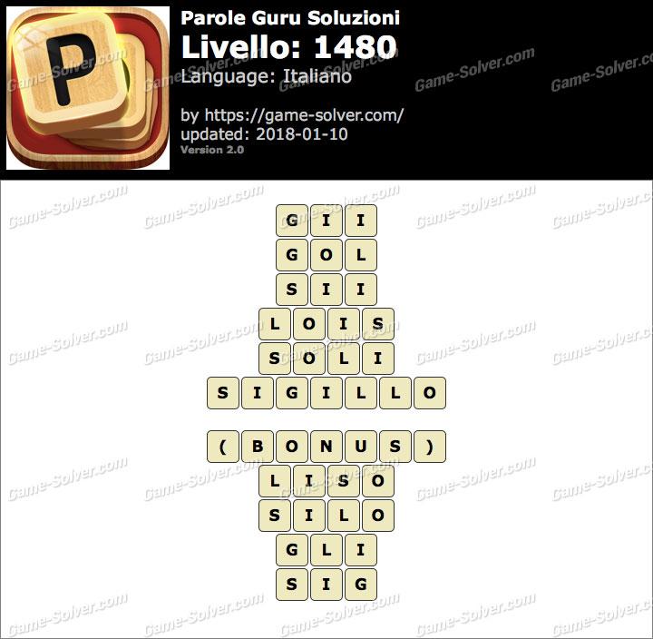 Parole Guru Livello 1480 Soluzioni