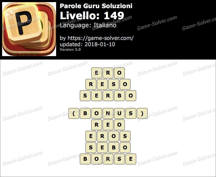 Parole Guru Livello 149 Soluzioni