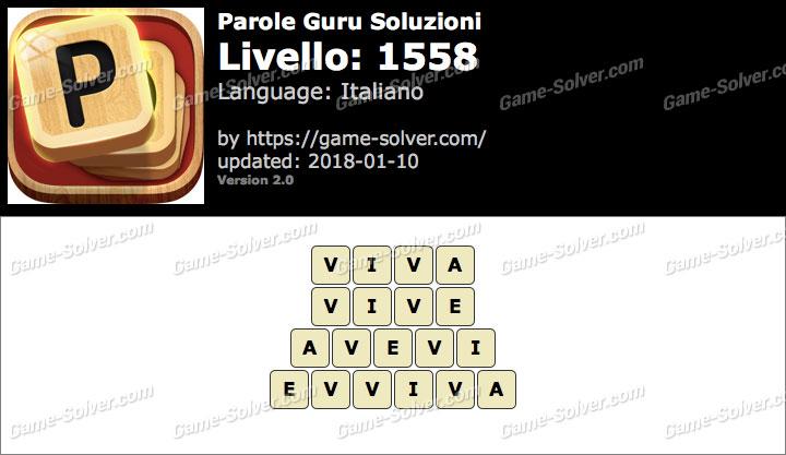 Parole Guru Livello 1558 Soluzioni
