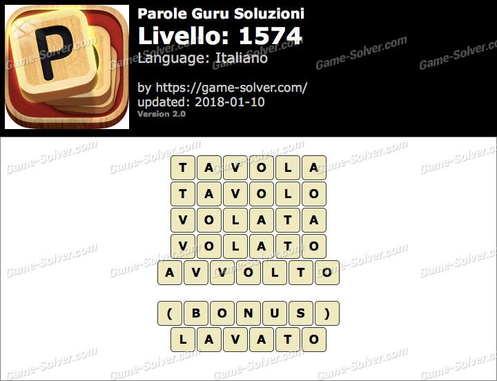 Parole Guru Livello 1574 Soluzioni