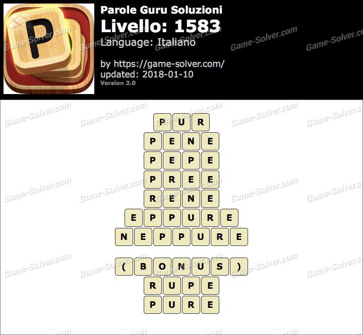 Parole Guru Livello 1583 Soluzioni