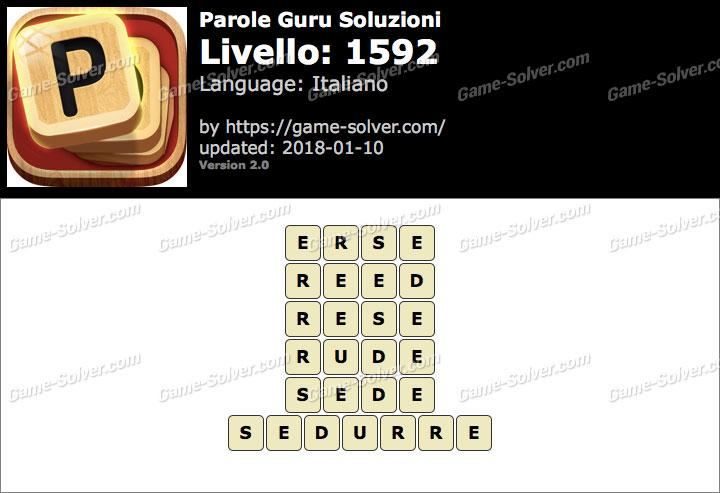 Parole Guru Livello 1592 Soluzioni