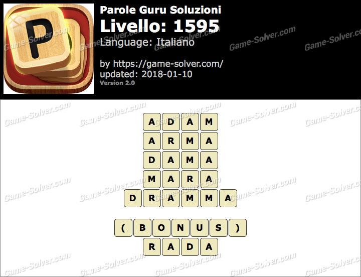 Parole Guru Livello 1595 Soluzioni