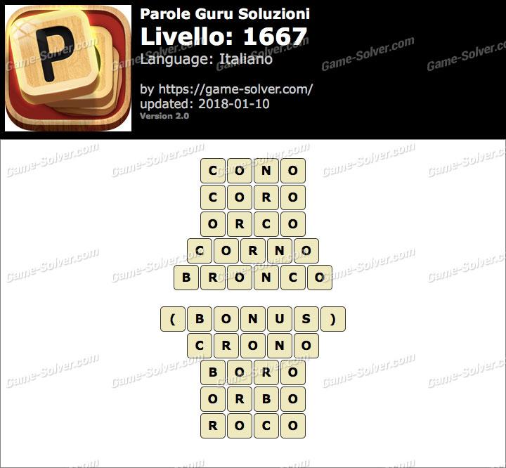Parole Guru Livello 1667 Soluzioni