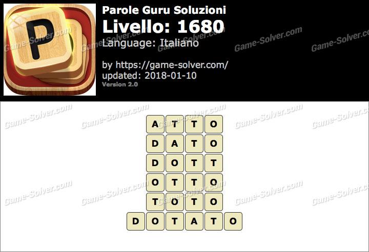Parole Guru Livello 1680 Soluzioni