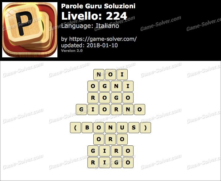 Parole Guru Livello 224 Soluzioni