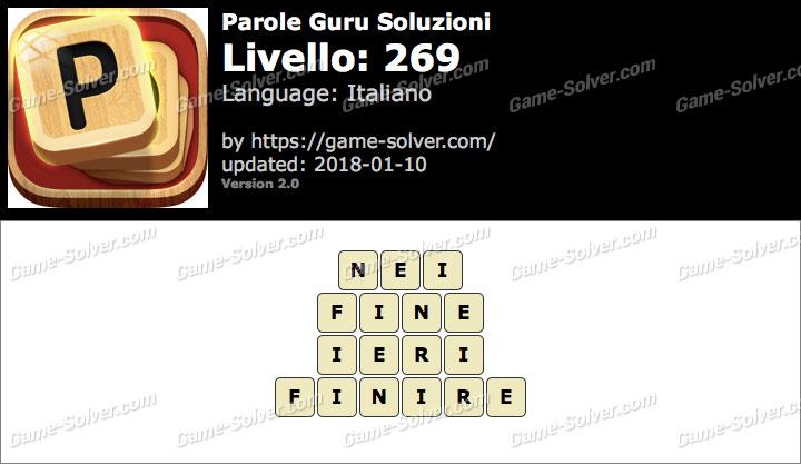 Parole Guru Livello 269 Soluzioni
