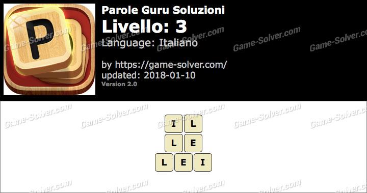Parole Guru Livello 3 Soluzioni
