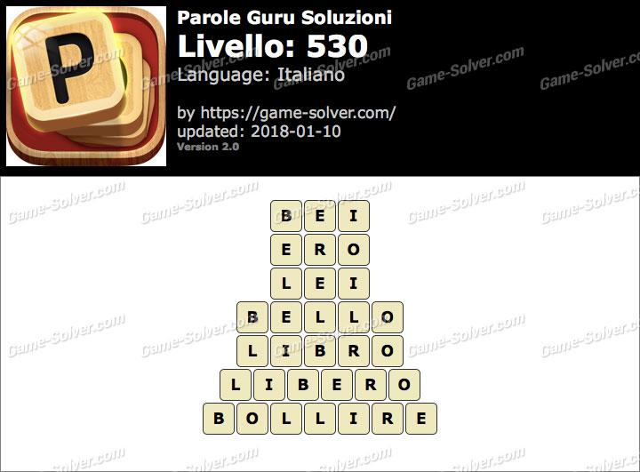 Parole Guru Livello 530 Soluzioni