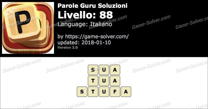 Parole Guru Livello 88 Soluzioni