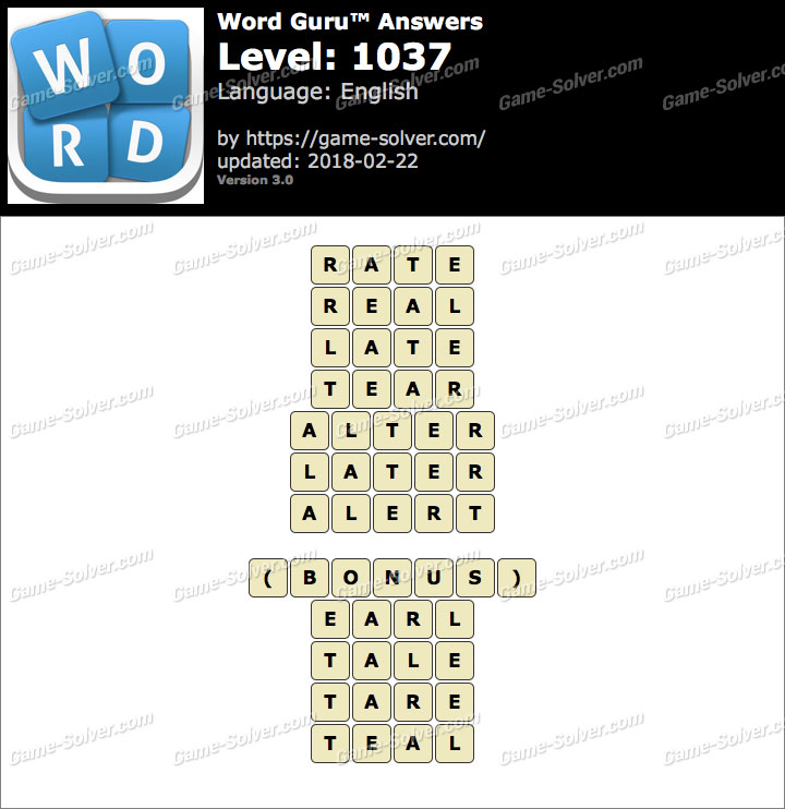 Word Guru Level 1037 Answers