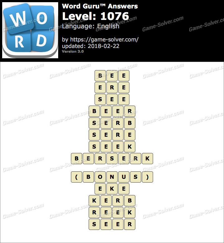 Word Guru Level 1076 Answers