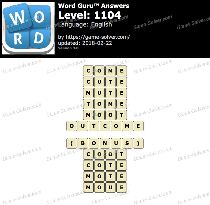 Word Guru Level 1104 Answers