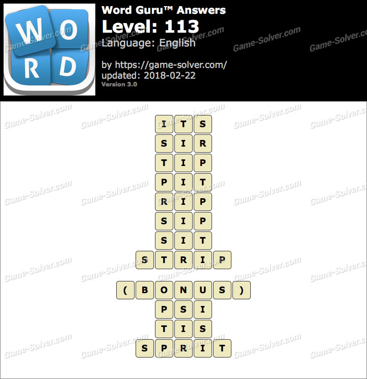 Word Guru Level 113 Answers