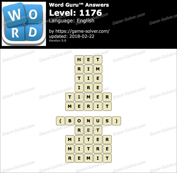 Word Guru Level 1176 Answers