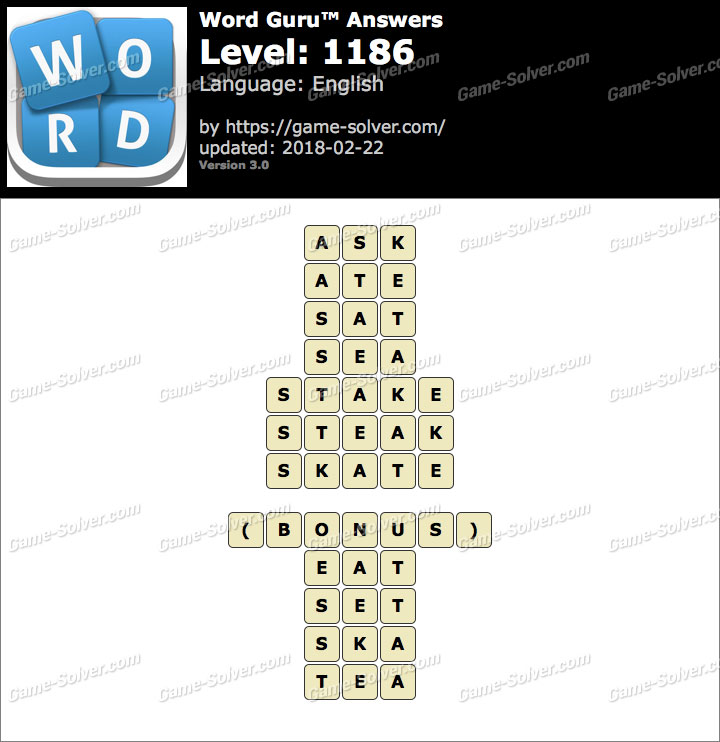 Word Guru Level 1186 Answers