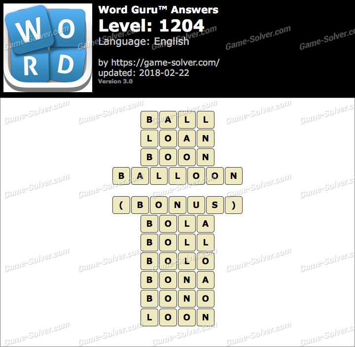 Word Guru Level 1204 Answers