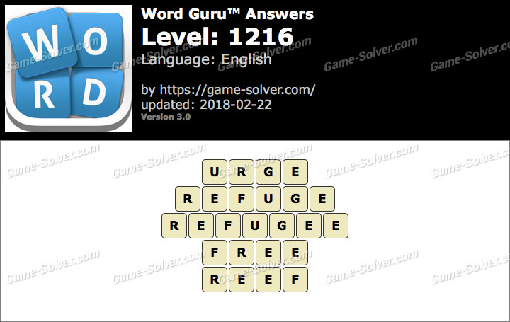 Word Guru Level 1216 Answers