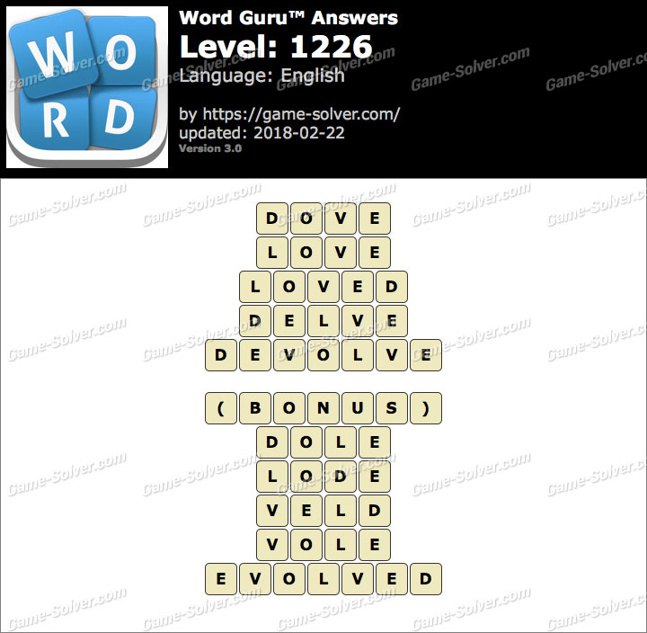 Word Guru Level 1226 Answers